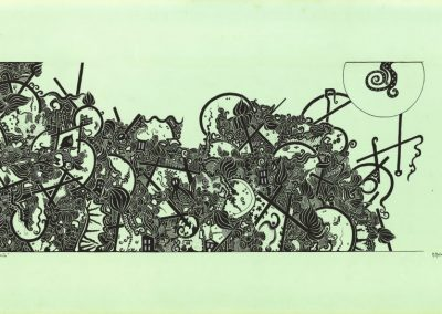 The Other story, ink, 100 x 50 cm, 1990.